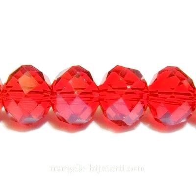 Cristal multifete rosu, 10x8mm 1 buc