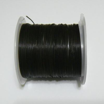 Fir elastic negru, 0.8mm, bobina 10.3 metri 1 buc