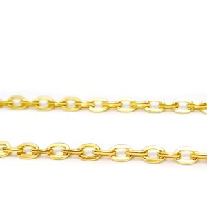 Lant auriu cu zale plate, 3x2x0.5mm 1 m