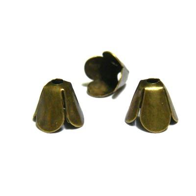Capacel bronz 4 petale, 9x7 mm 10 buc