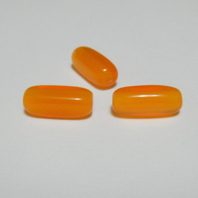 Margele plastic portocaliu, 15x5x5 mm 1 buc