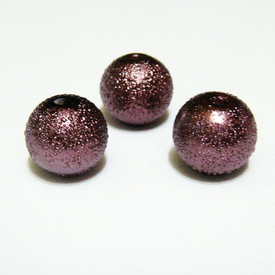 Perle sticla, stardust, maro, 12mm 1 buc