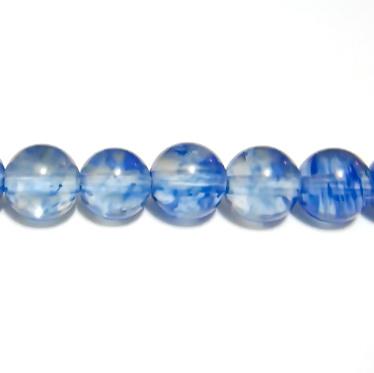 Cuart albastru inchis, 6mm 1 buc