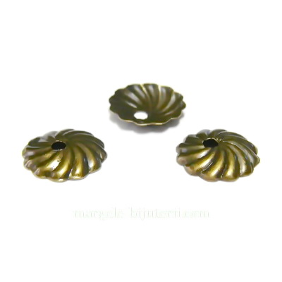 Capacele bronz, crizantema 10x1mm 10 buc