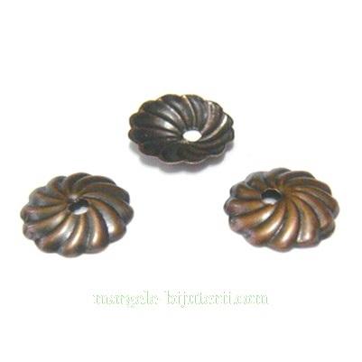 Capacele cupru, crizantema 10x1mm 10 buc