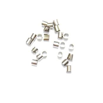 Crimp tubulare argintiu-inchis 100 buc