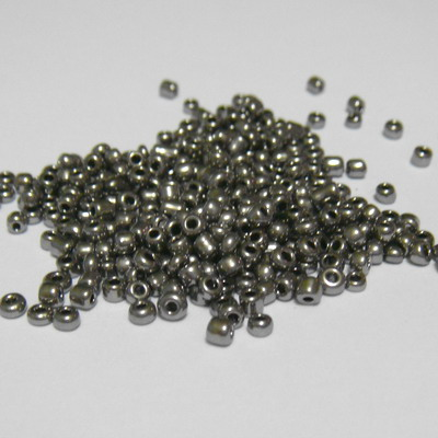 Margele nisip, gri-inchis, sidefate, 2mm 20 g