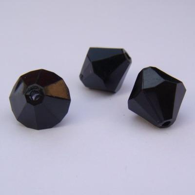 Margele plastic biconice negre 10mm 30 buc