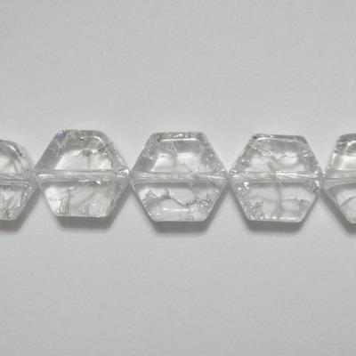 Cristal de gheata, hexagonal, 10x10x4mm 1 buc