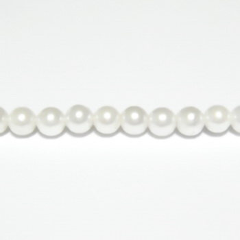 Perle stil Mallorca, albe, 4.3mm 1 buc