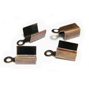 Capat prindere snur, 11x5 mm, culoare cupru, interior 4mm 10 buc