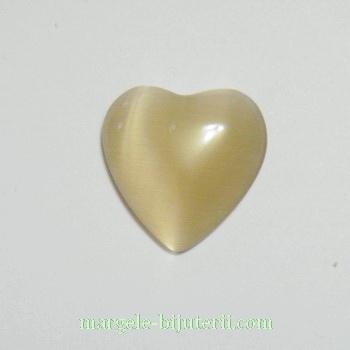 Aplice sticla bej, inima 14 mm 1 buc