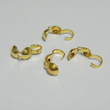 Cupa prindere nod placat cu aur, 8mm 1 buc