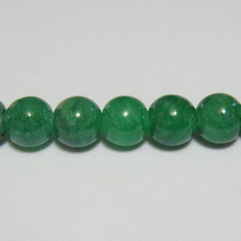 Piatra naturala vopsita verde-sticlos, 6mm 1 buc