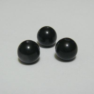 Margele rasina negre, imitatie ochi de pisica, 8mm 10 buc