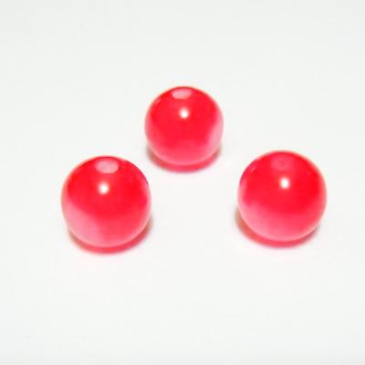 Margele rasina rosii, imitatie ochi de pisica, 8mm 10 buc
