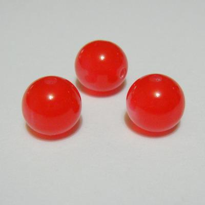 Margele rasina rosii, imitatie ochi de pisica, 14mm 1 buc