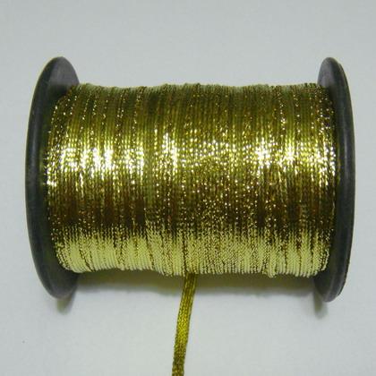 Fir lurex auriu, plat, 3.5mm 1 m
