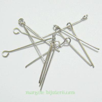 Ace cu bucla, argintiu-inchis, 40 mm 100 buc