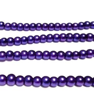 Perle sticla violet, 4mm 10 buc