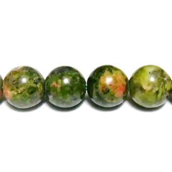 Unakite, sfere 6.5 mm 1 buc