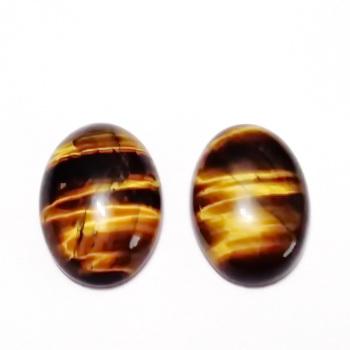 Cabochon ochi de tigru, 20x15x6mm 1 buc