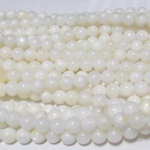 Sidef alb, sferic, 4mm 1 buc