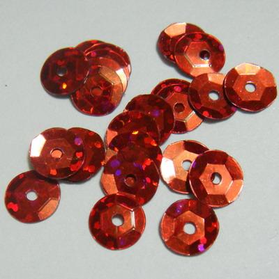 Paiete hexagonale rosii cu reflexe, 8mm 100 buc