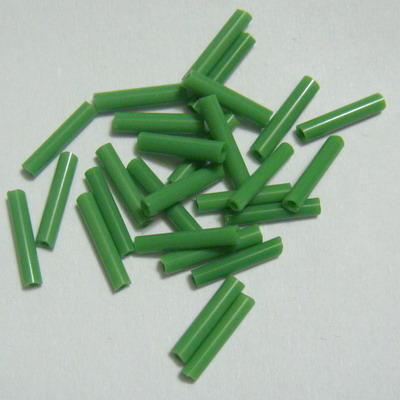 Margele tubulare, verzi, mate, 9mm 20 g