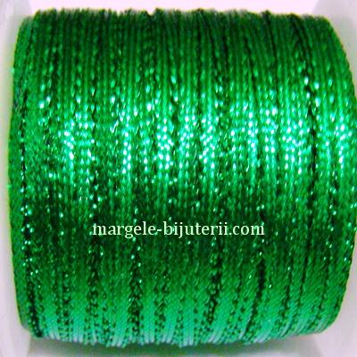 Fir lurex verde, plat, 3mm 1 m