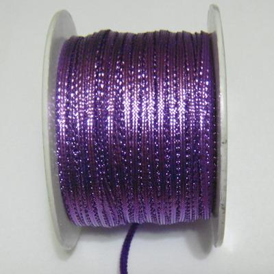 Fir lurex mov, plat, 3mm 1 m