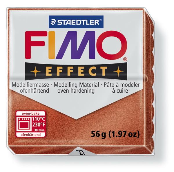 Plastelina fimo effect 56g cod cul 27, maro metalizat 1 buc