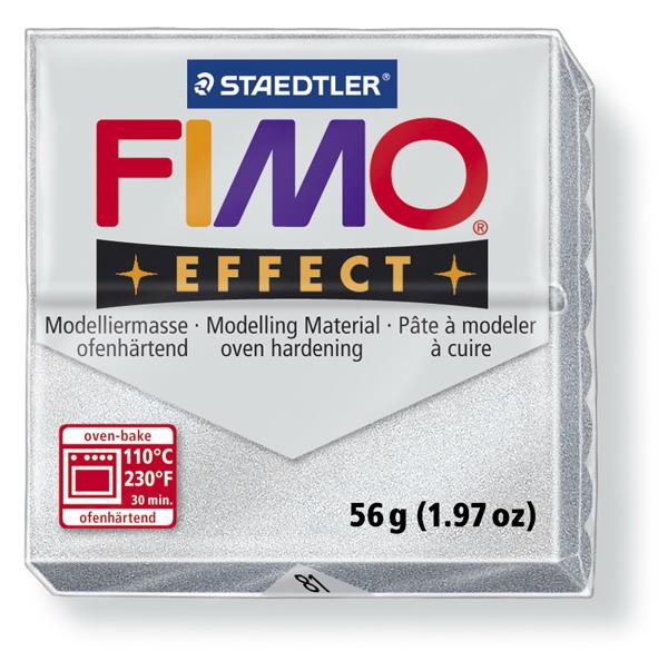 Plastelina fimo effect 56g cod cul 81, argintiu metalizat 1 buc