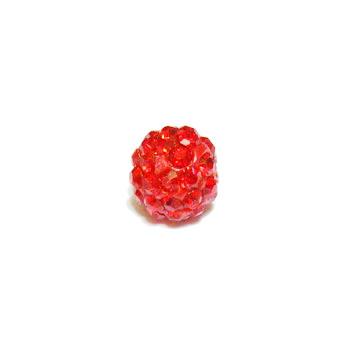 Margele shamballa rosii, 8mm 1 buc