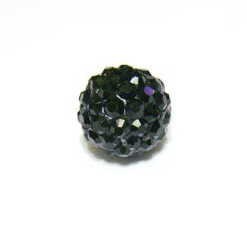 Margele shamballa negre, 10mm 1 buc