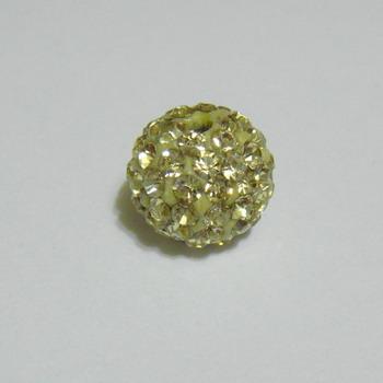 Margele shamballa aurii, 12mm 1 buc