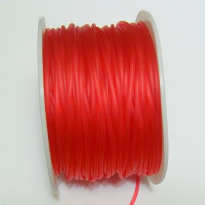 Fir cauciuc rosu, semitransparent, 1.8mm 1 m