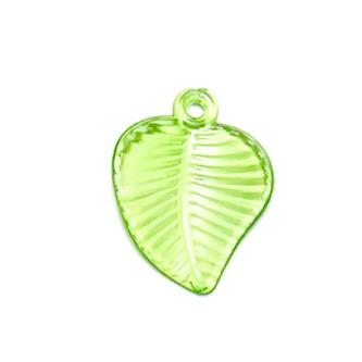 Frunzulite plastic verde deschis, 23x17x1mm 1 buc