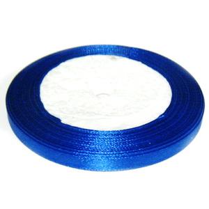 Saten albastru-cobalt, 7mm 1 rola 25 m