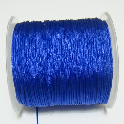 Snur matasos pentru bratari shamballa, albastru-cobalt, grosime 1mm 1 m