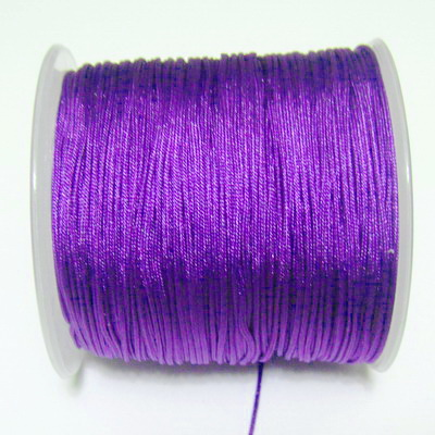 Snur matasos pentru bratari shamballa, violet, grosime 1mm 5 m