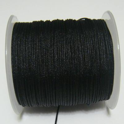 Snur matasos pentru bratari shamballa, negru, grosime 1mm 5 m