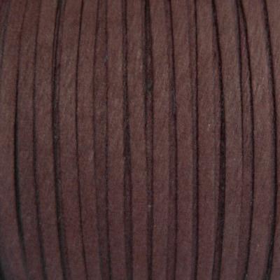 Snur faux suede, maro, grosime 3x1.5mm 1 m