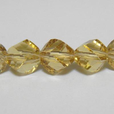 Margele sticla culoare coniac, 4 fete, 8 mm 1 buc