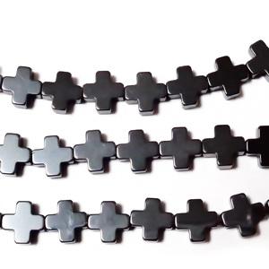 Hematite nemagnetice, cruciulita 6.3x6.3x2.5mm 1 buc