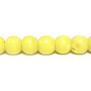 Howlite galben sferic, 4,3mm 1 buc