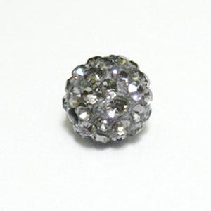 Margele shamballa gri, 10mm 1 buc