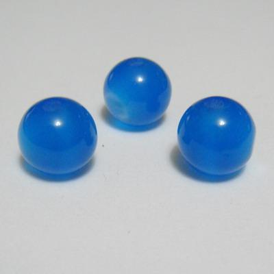 Margele rasina bleu, imitatie ochi de pisica, 10mm 1 buc