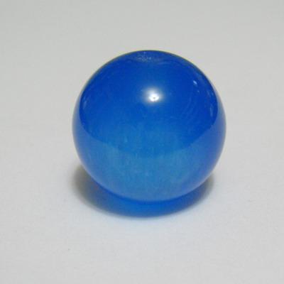 Margele rasina bleu, imitatie ochi de pisica, 18mm 1 buc