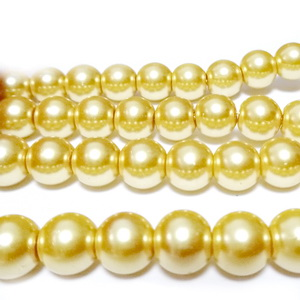Perle sticla aurii, 8mm 10 buc